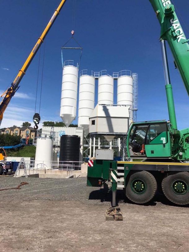 Silo Installation Day